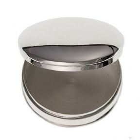 Solid Silver Round Pill Box, Personalised, ref SRPB